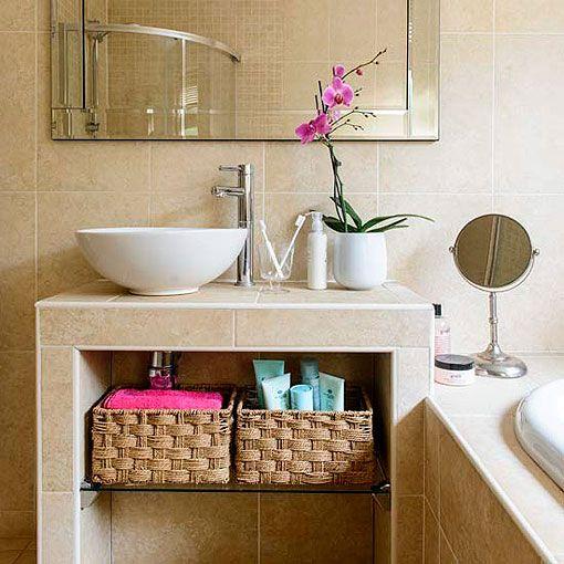 Ba os peque os ideas y soluciones para aprovechar el for Soluciones apartamentos pequenos