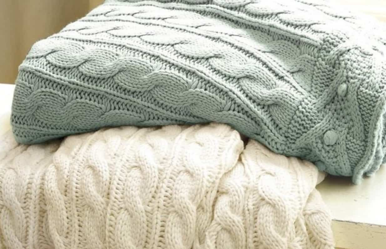 Chunky Cable Knit Throw Blanket Easy Video Tutorial | Blanket, Knit ...