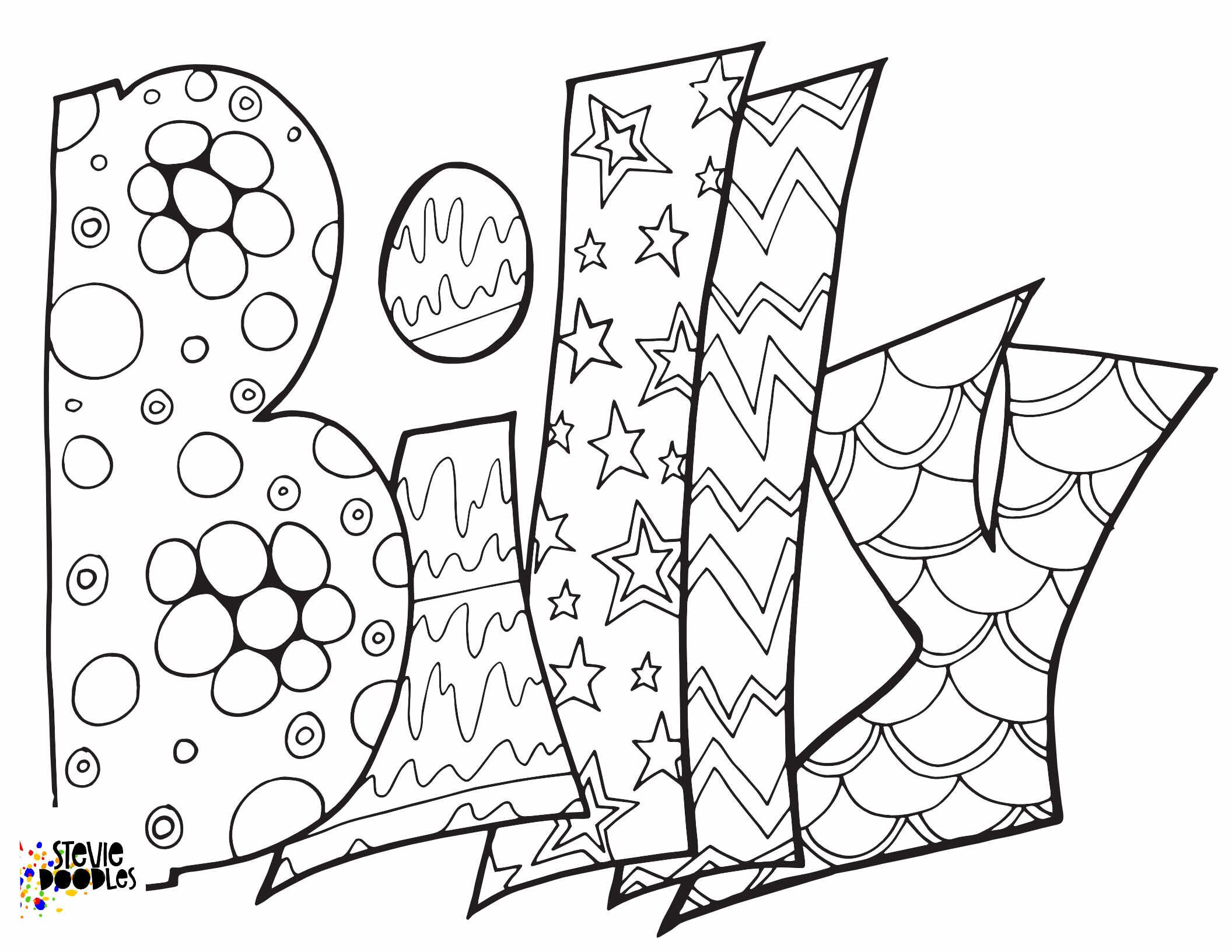Billy Free Coloring Page Classic Stevie Doodles Stevie Doodles Free Coloring Pages Name Coloring Pages Free Printable Coloring Pages