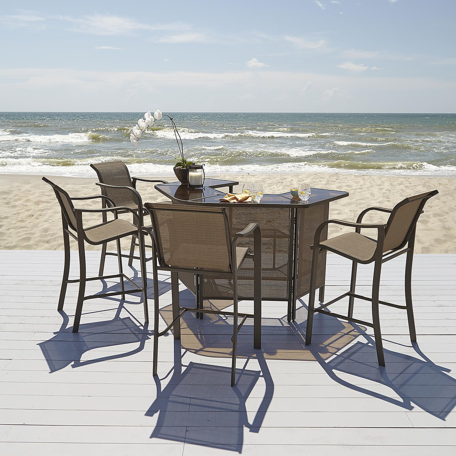 Grand Harbor Edgewater 4 Bar Chairs Outdoor Living