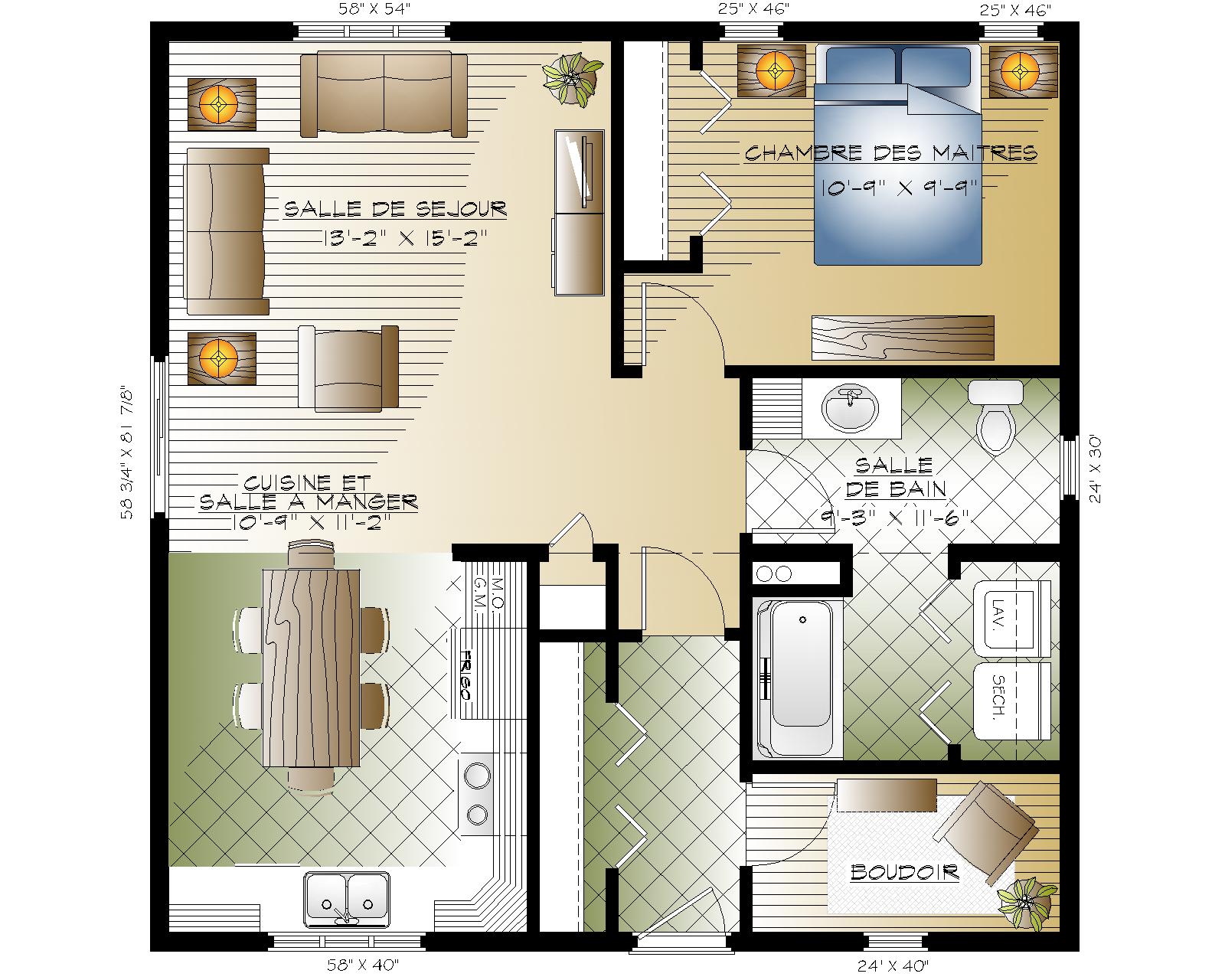Serpentine Habitations Mont Carleton Maison Anglaise Plan Maison Plans De Maisonnette