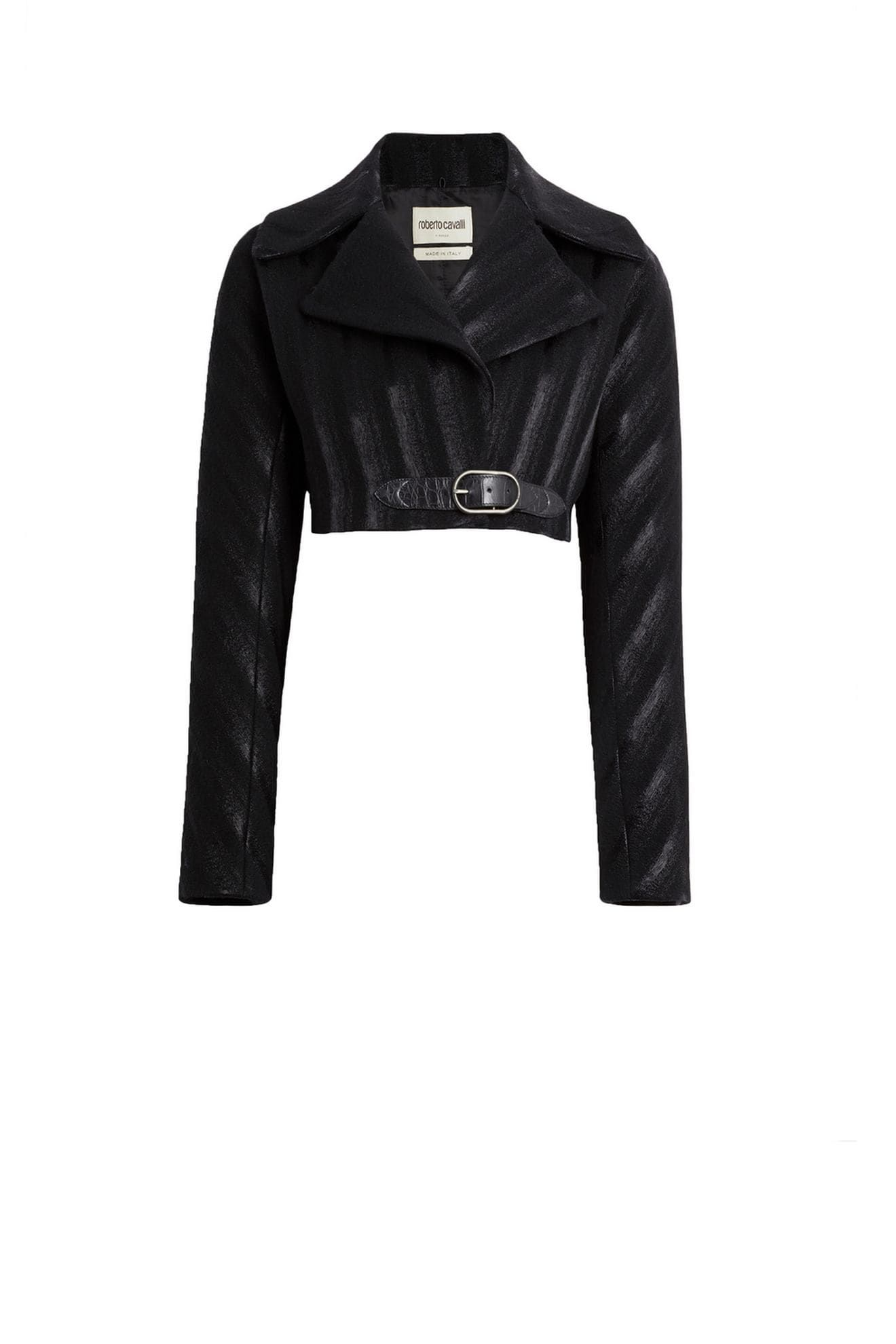sports shoes e6778 6b94c Cropped black striped caban jacket in 2019   Coats and ...