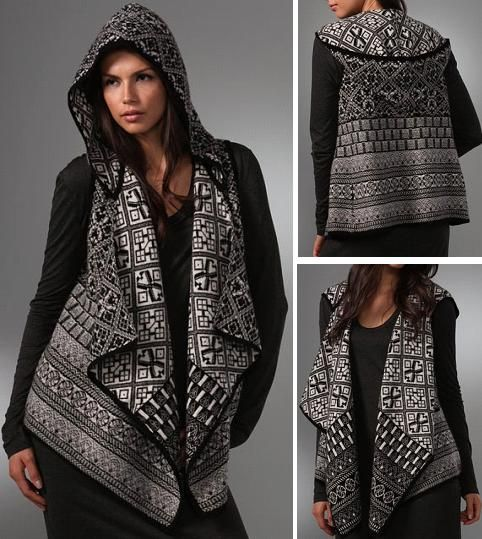 Joie Cleopatra Fair Isle Vest; looks like double knitting to me ...