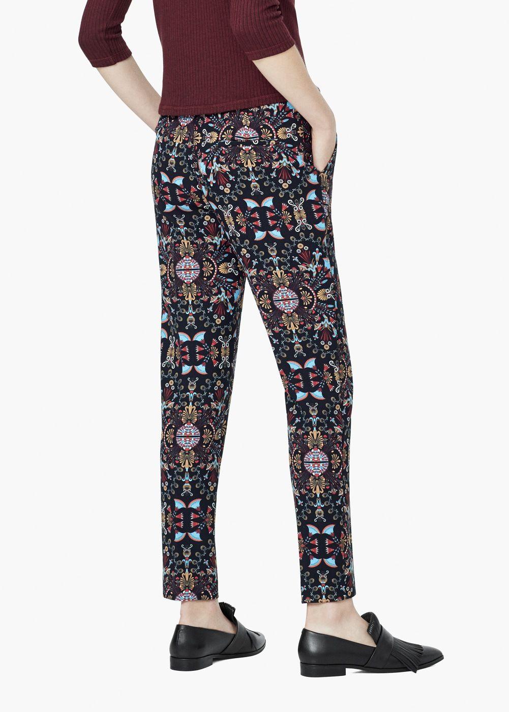 Pantaloni stampa combinata