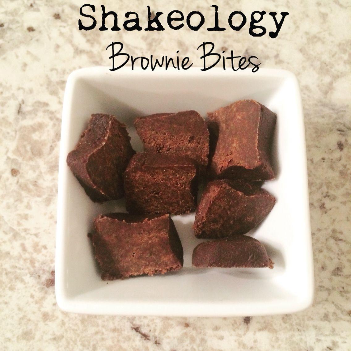 NO BAKE Chocolate Vegan Shakeology brownie bites 1 scoop Chocolate ...