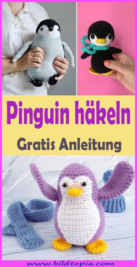 Häkeln Pinguin - kostenlose DIY-Anleitung - Kleiner Balkon Ideen #strickanleitungbaby
