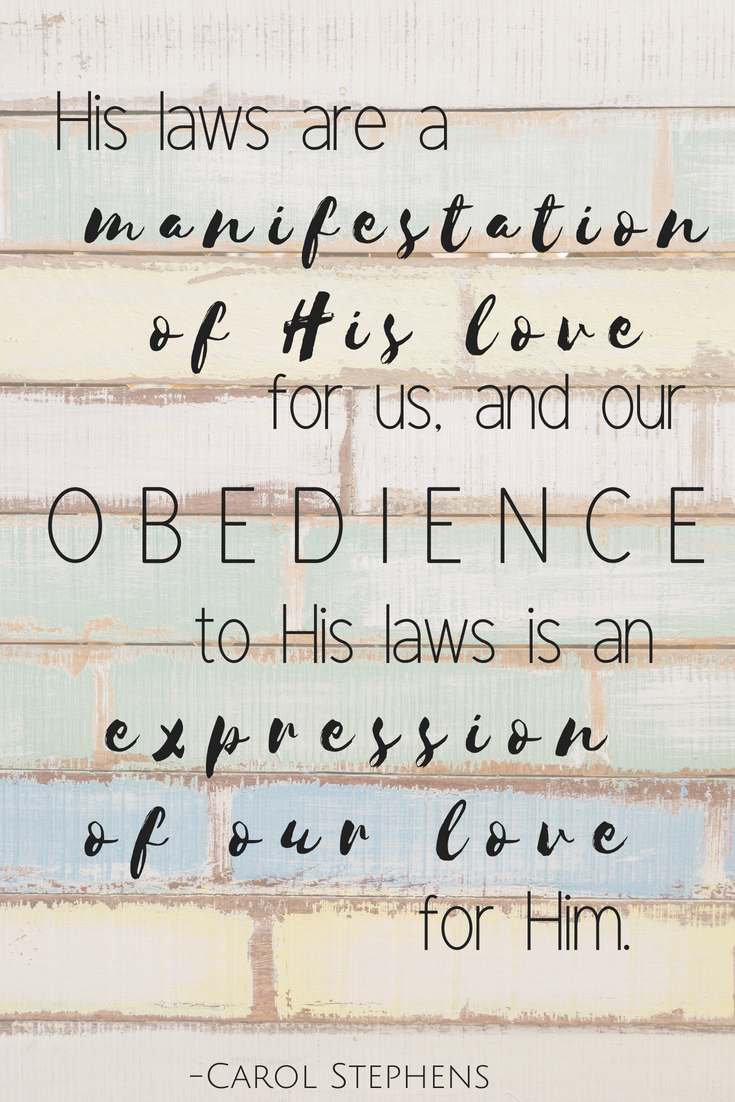 Here's a great quote on how important obedience is. A great ...