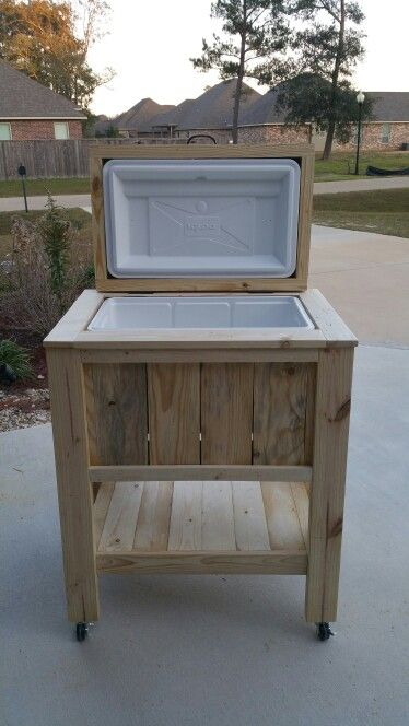 Pallet Wood Ice Chest Wooden Ice Chest Patio Cooler Wooden Cooler