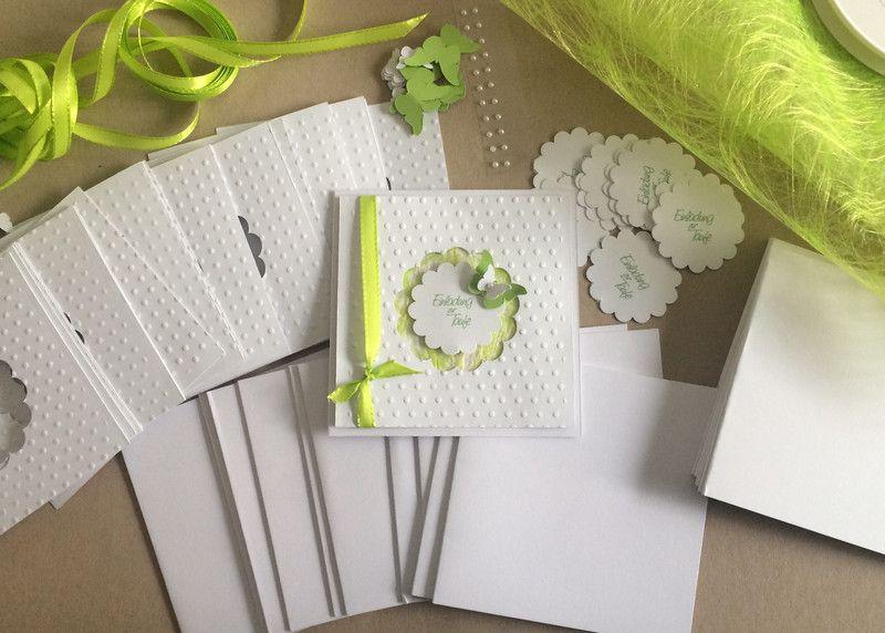 Einladungskarten   Bastelset Für Einladungen Taufe   DIY    Ein  Designerstück Von Sandelinchen Bei DaWanda