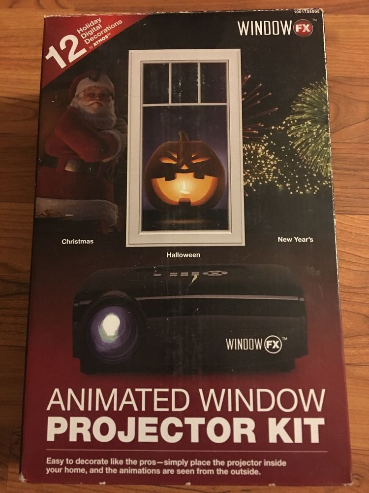 new christmas halloween window fx projector kit ghost santa display atmosfearfx windowfx
