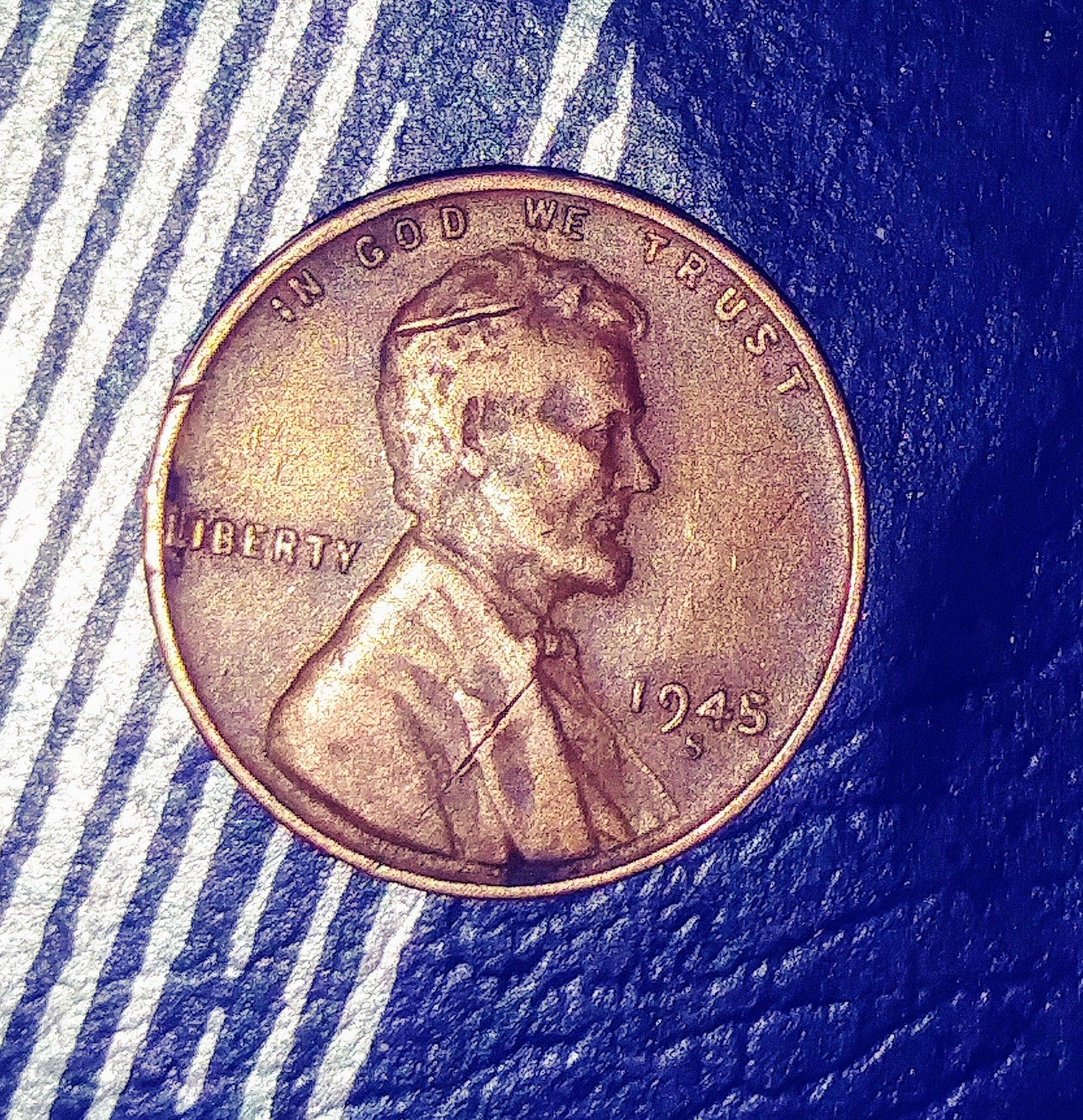 Sterling Wheat Penny Error See More Wheat Penny Error Picclick 1945