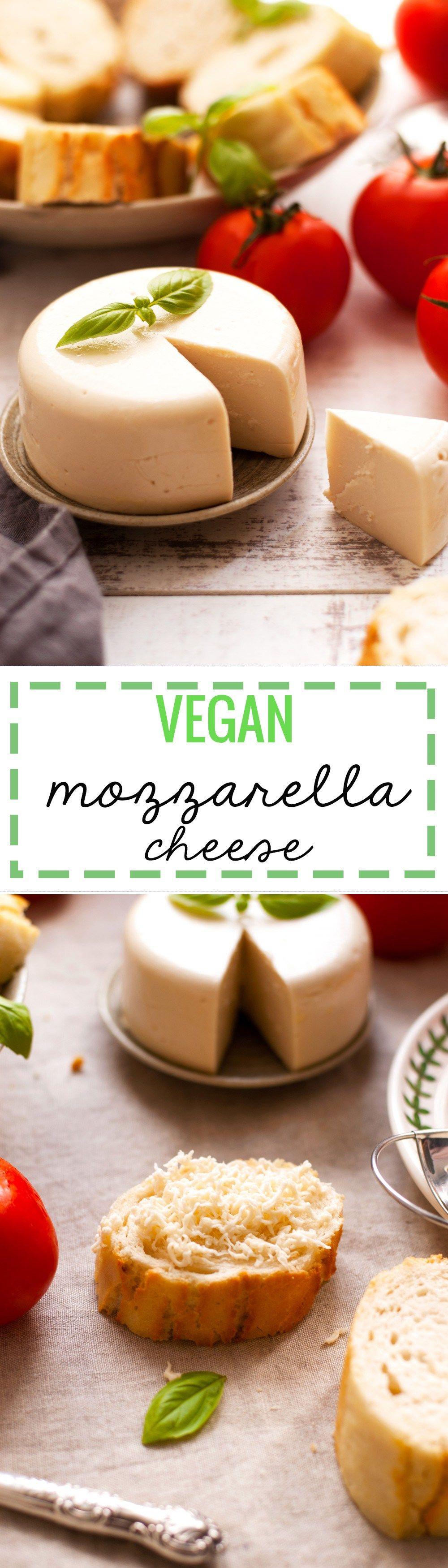Vegan Mozzarella Cheese Recipe Vegan Recipes Vegan Cheese Recipes Vegan Dishes