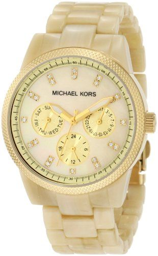 """442ad98ada9c Michael Kors Women s Ritz Horn Watch ○ """"The watch is even more beautiful  than pictured because the mother of pearl is not done justice on the  picture."""""""