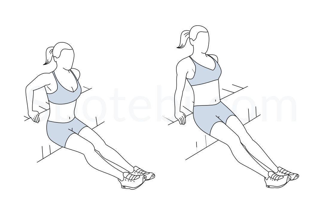 Drawing Arm Lifts : Tricep dips flabby arms and exercises