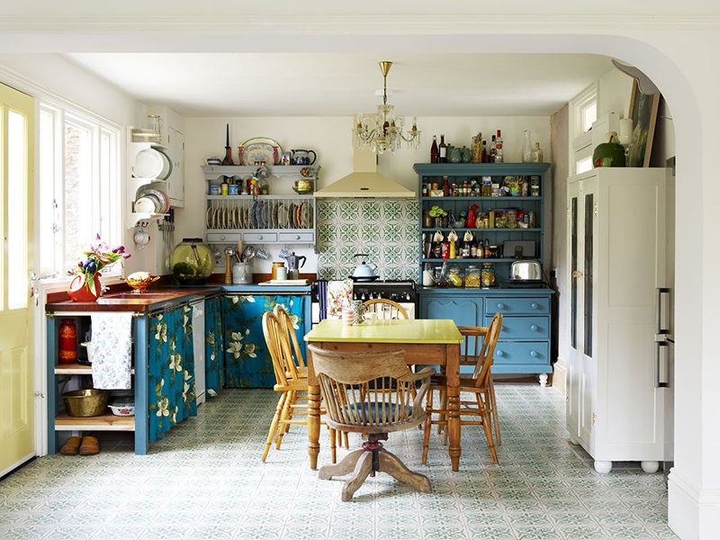 An Eclectic Cottage Eclectic Kitchen Freestanding Kitchen Home