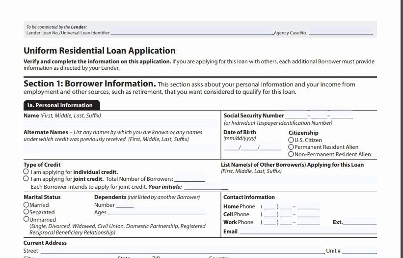 Sample Loan Application Form Lovely The 1003 Mortgage Application Form Definition Application Form Loan Application List Of Jobs