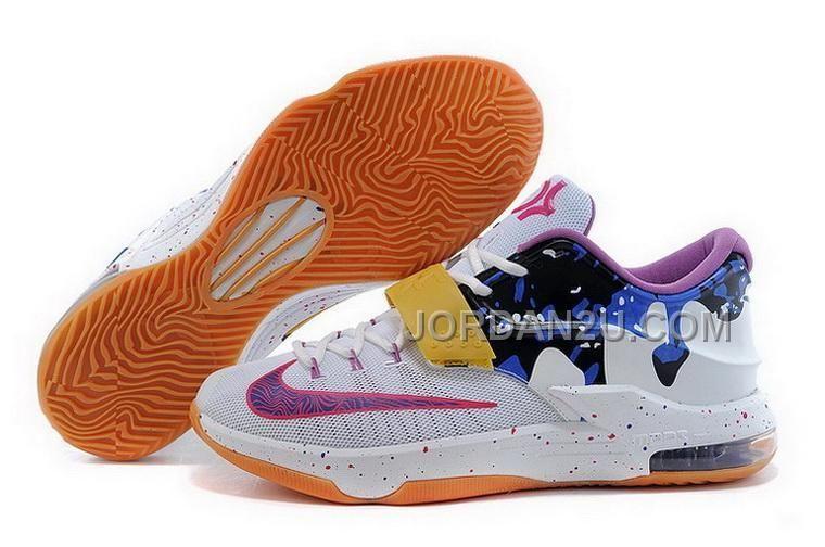 womens nike kd 7 purple orange