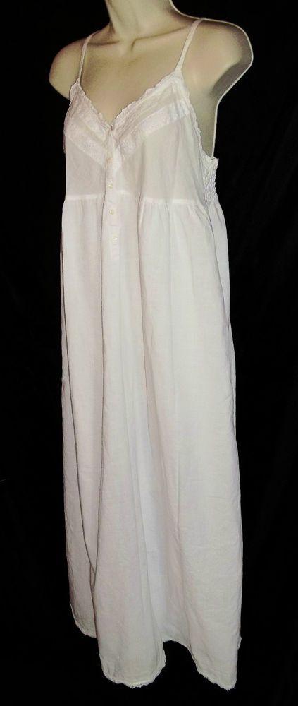 VICTORIA S SECRET WHITE 100% COTTON NIGHTGOWN SMALL  VictoriasSecret  Gowns caf73d219