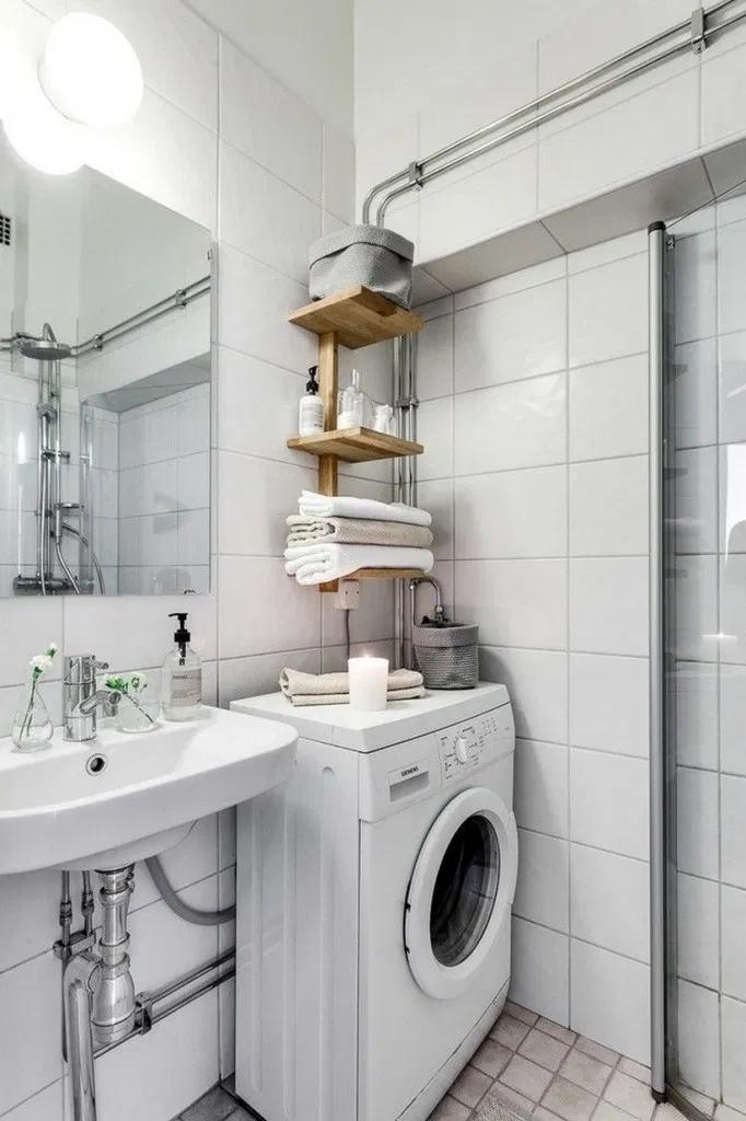 40+ Apartment Small Bathroom Ideas with Washing Machine# ... on Small Space Small Bathroom Ideas With Washing Machine id=30127