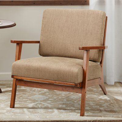 Living Room Chairs, Occasional Chairs With Wooden Arms