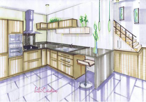 Plaquage bois Plan de travail - pose d un plan de travail cuisine