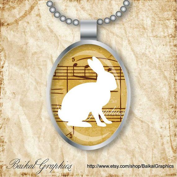 Easter Rabbit Flowers Notes music Woodland by BaikalGraphics, $3.50