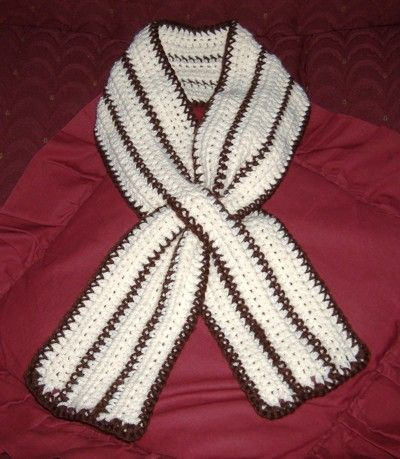 Diamond Stitch Keyhole Scarf. This would be make a perfect breast ...