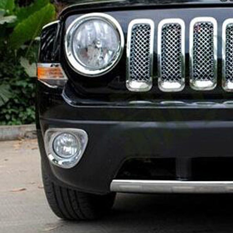 Fit For Jeep Patriot 2011 2012 2013 Abs Chrome Front Fog Light