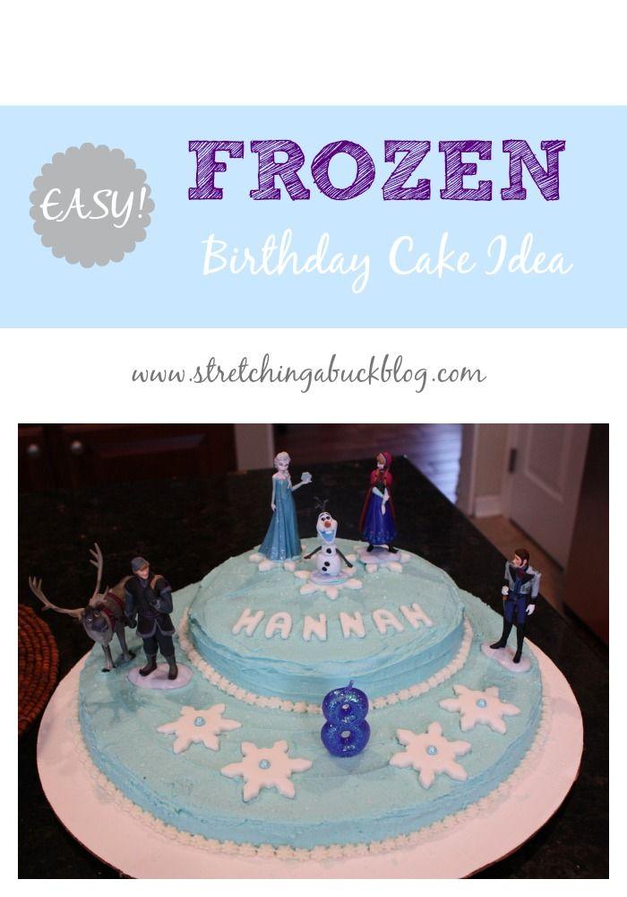 Disney Frozen Birthday Cake Idea Birthday Party Ideas Pinterest