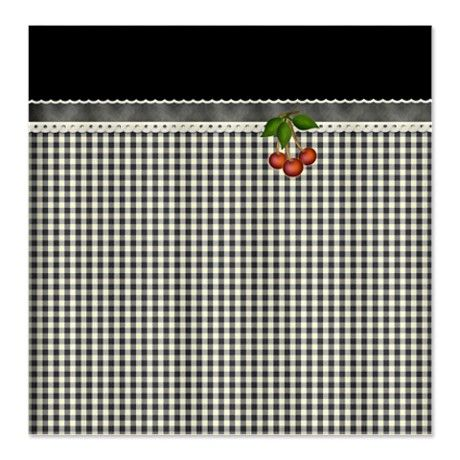 Black | White Gingham Checks Shower Curtain
