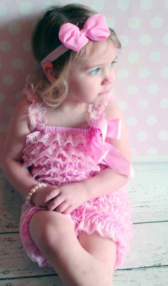 Pink Lace Petti Romper Vintage Lace Petti by LaBandeauxBowtique