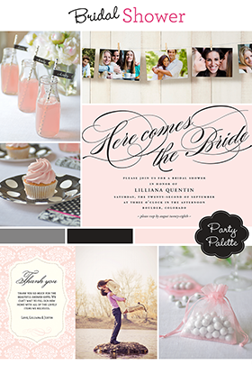 Bridal Shower inspirations from HP Photo Creations  #CMYK