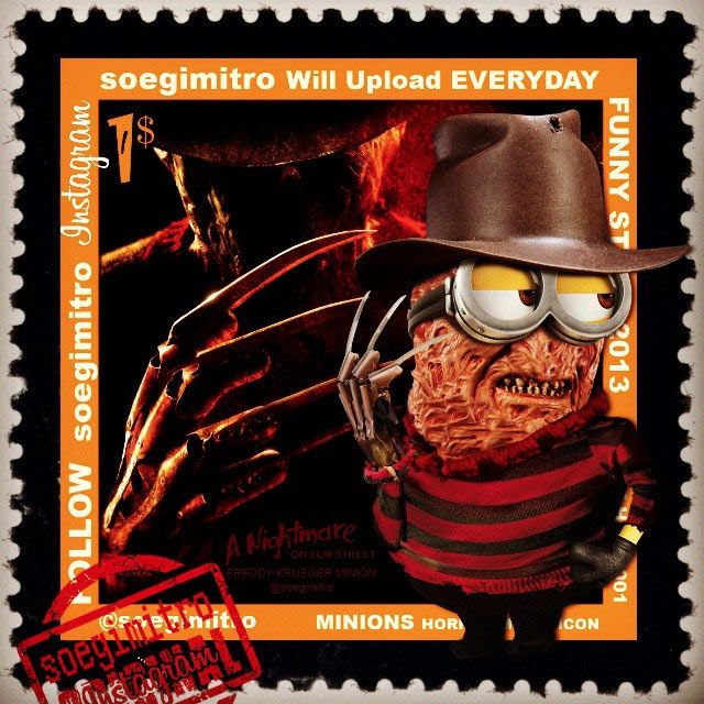 Minions Halloween Freddy Krueger Scary Movies Pinterest
