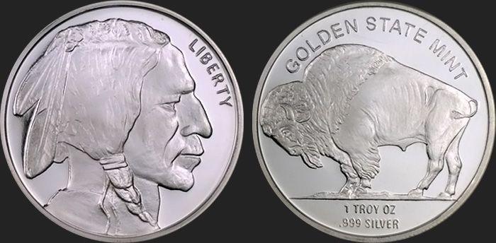 1 Oz Buffalo Silver Bullion Round 999 Fine Silver Bullion Silver Bullion