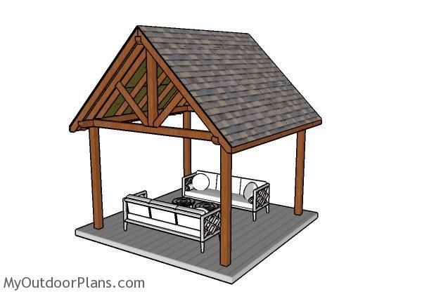 12x12 Pavilion Plans Myoutdoorplans Free Woodworking Plans And Projects Diy Shed Wooden Playhouse Pergola Pavilion Plans Pergola Plans Diy Gazebo Plans