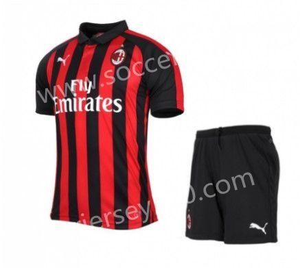 c609cd256b3 2018-19 AC Milan Home Red   Black Thailand Soccer Uniform