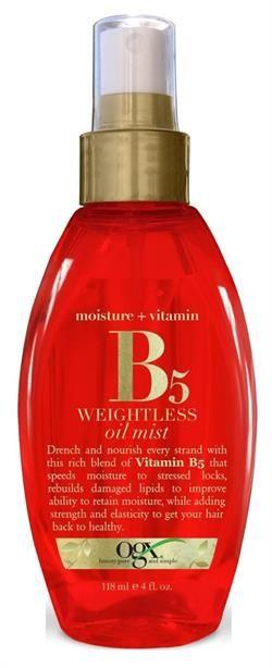Organix Yağ Spray Vitamin B5 118Ml
