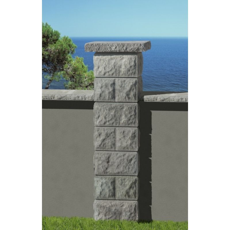 Pilares y bloques labrados vallas pilares y bloques de sas prefabricados de hormig n balcones - Prefabricados de hormigon sas ...