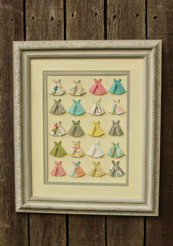 Heidi Origami Dress Framed Art | Origami dress, Origami and Craft
