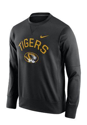 Nike Mizzou Tigers Mens Black Circuit Performance Sweatshirt
