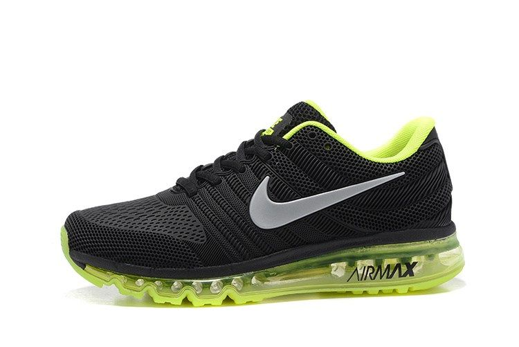 04b90791745 Nike Air Max 2017 Men Black Fluorescent Green White Tick