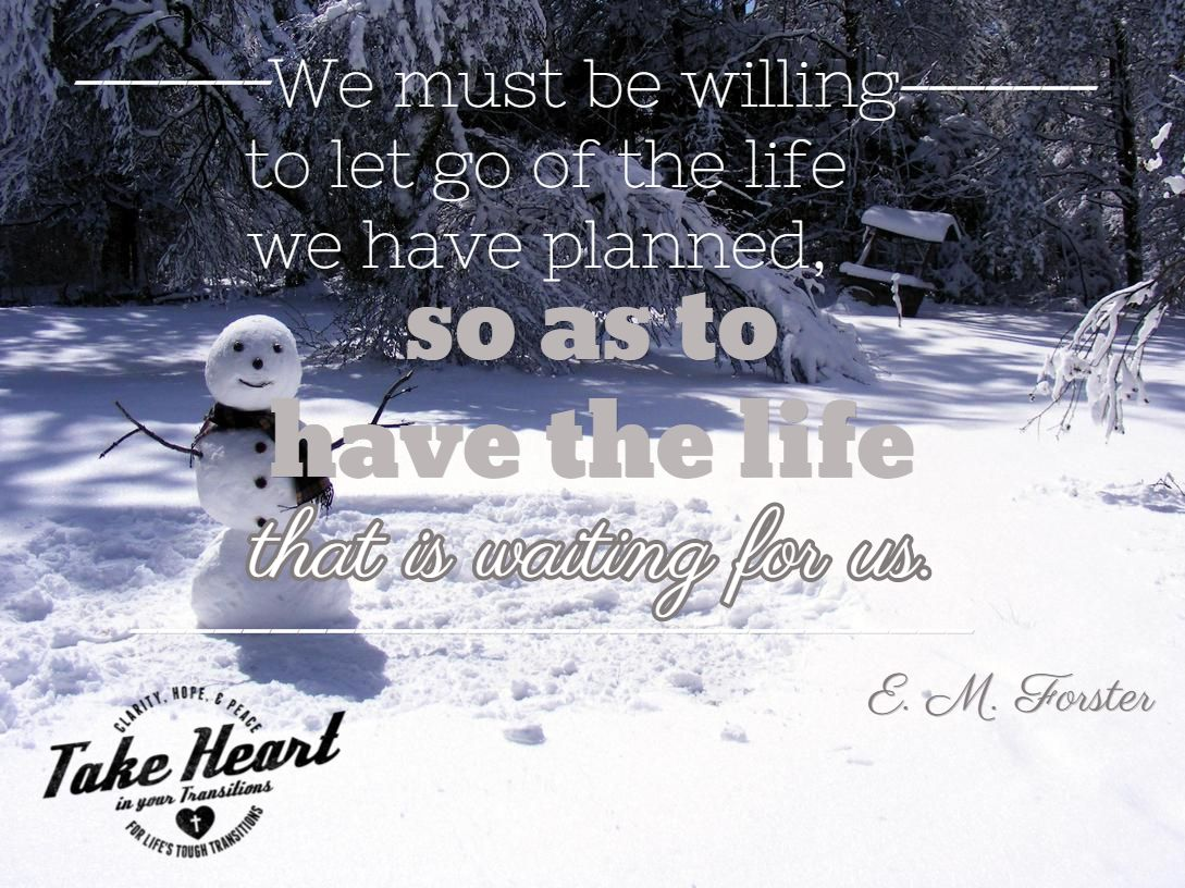 Peace · We Must Be Willing To Let Go ...