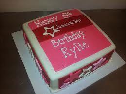 Sensational American Girl Box Cake Idea American Girl Birthday Party Personalised Birthday Cards Paralily Jamesorg