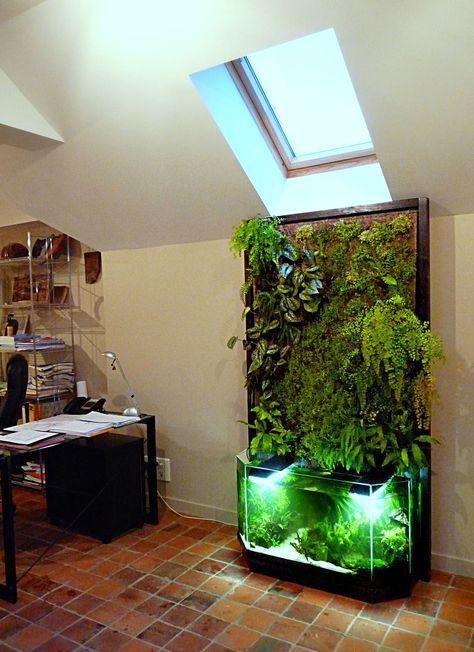 mur v g tal int rieur en aquaponie aquaponics aquariums hydroponics pinterest mur. Black Bedroom Furniture Sets. Home Design Ideas