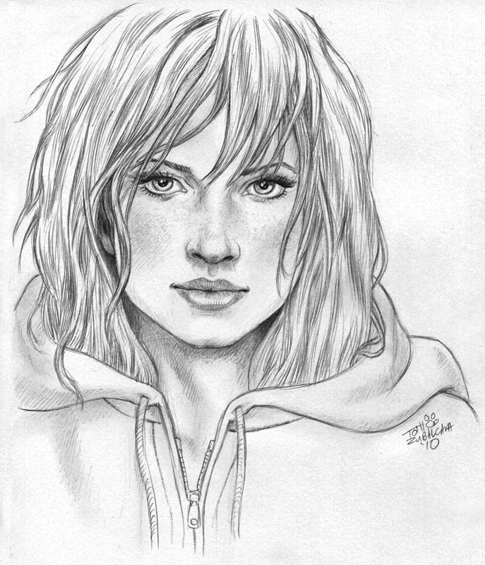 Beautiful pencil sketch of girls 2014