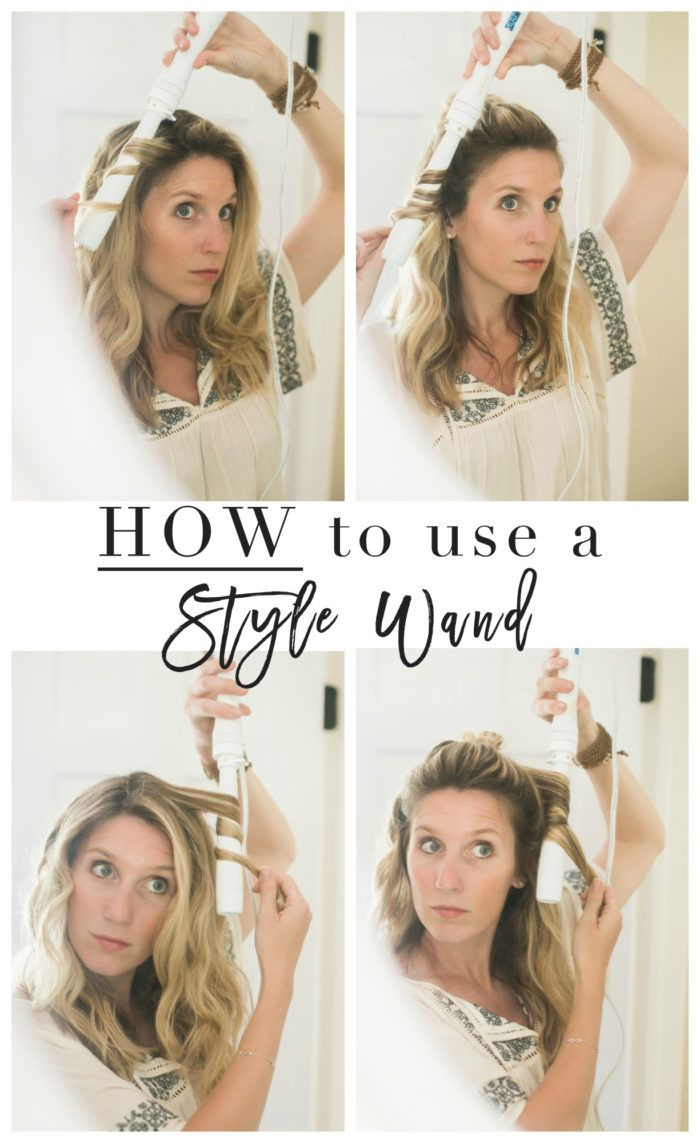 Summer Hair How To Use A Styling Wand Video Lynzy Co Styling Wand Summer Hairstyles Curling Hair With Wand