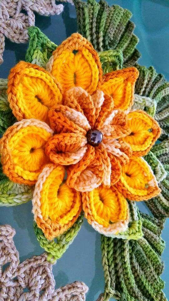 Pin von Marli Souza auf Lilás | Pinterest | gehäkelte Blumen, Blumen ...