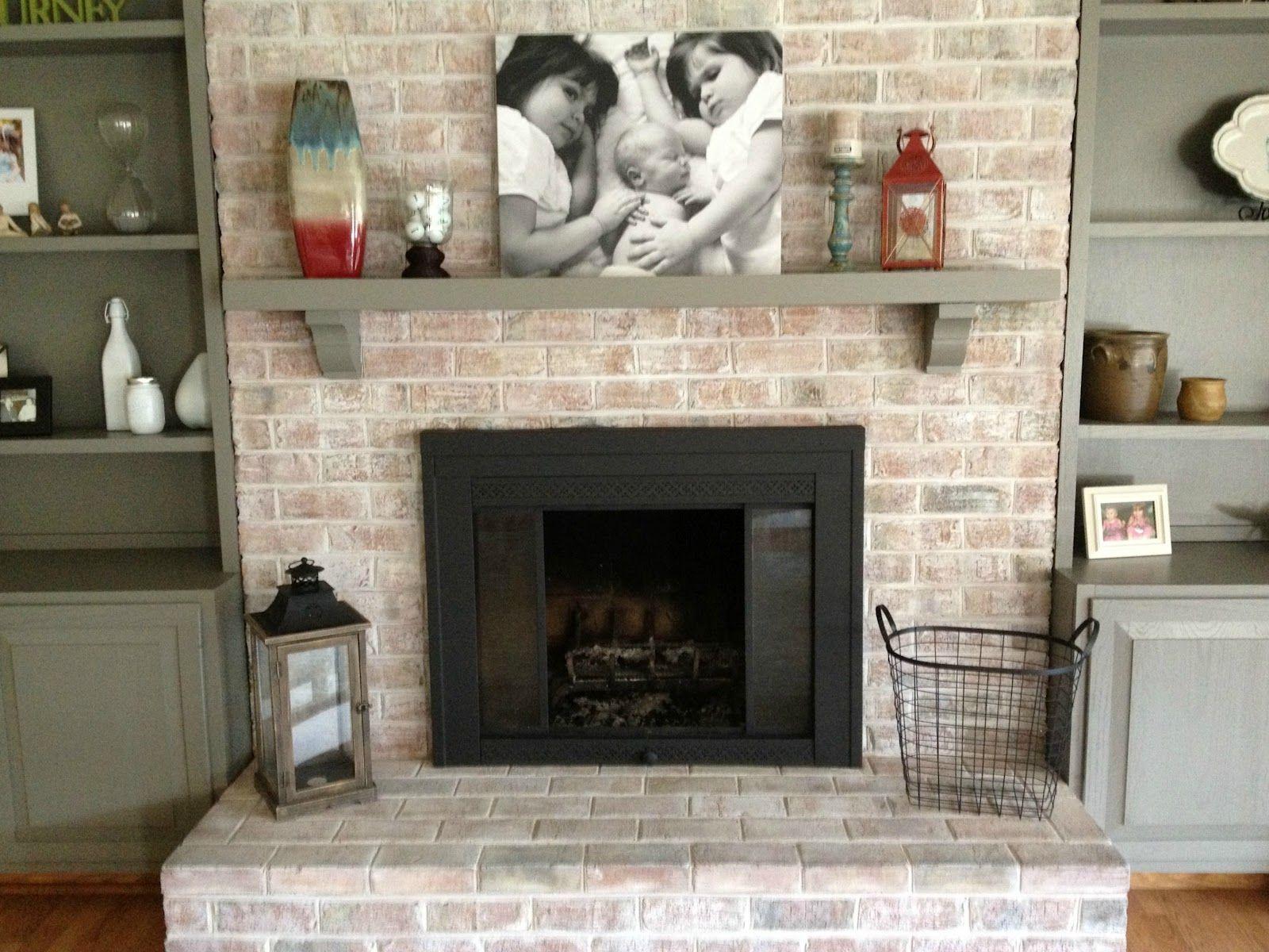 How to Paint a Brick Fireplace Fireplace Pinterest Brick