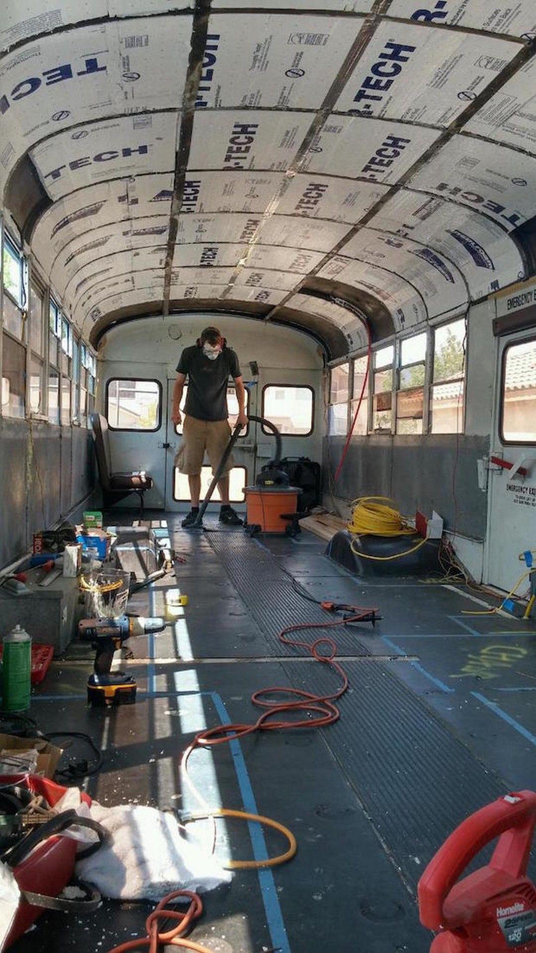 Easy way bus conversion to big rv camper family bus