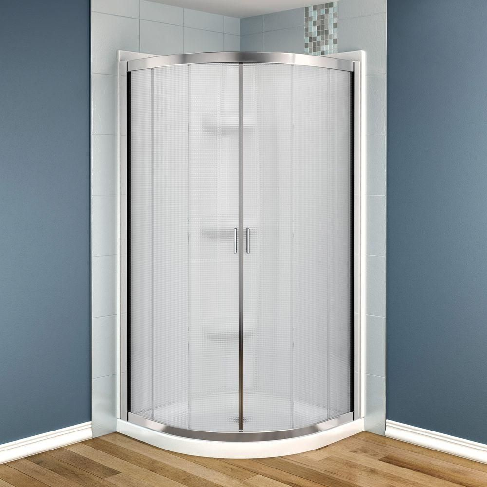 Maax Intuition Neo Round 32 In X 32 In X 73 In Shower Stall In White With Images Neo Angle Shower Shower Stall Corner Shower Kits